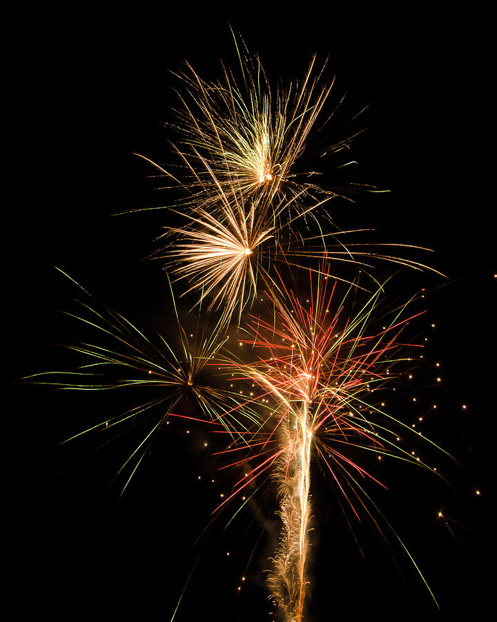 Fireworks Photograph - Explosion by Shirley Tinkham