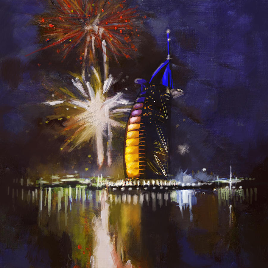 Dubai Expo 2020 Painting - Expo Celebrations by Corporate Art Task Force