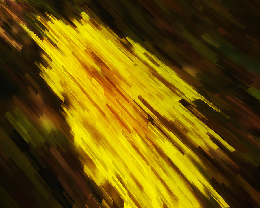 Abstract Digital Art - Express Lane by Jack Zulli