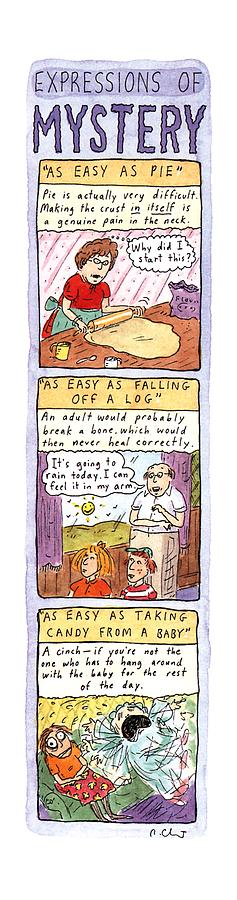 Expressions Of Mystery Drawing by Roz Chast