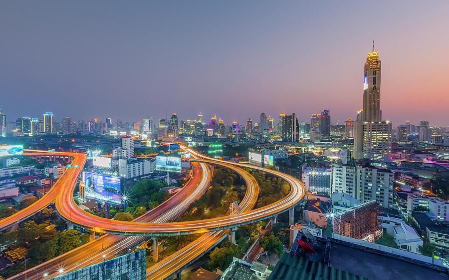 Expressway In Bangkok Photograph by Chalermkiat Seedokmai