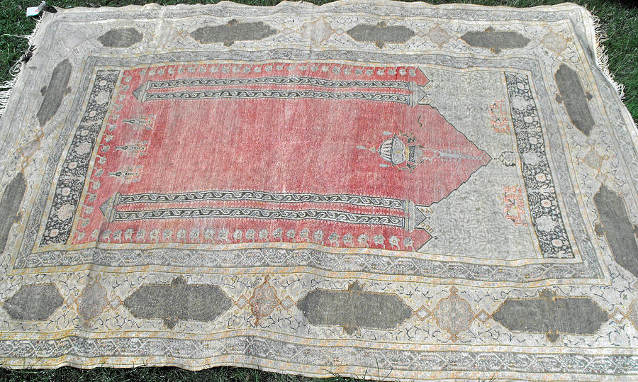 Islamic Prayer Rugs Tapestry - Textile - Exquisite Oriental Islamic Prayer Rug by Anonymous artist