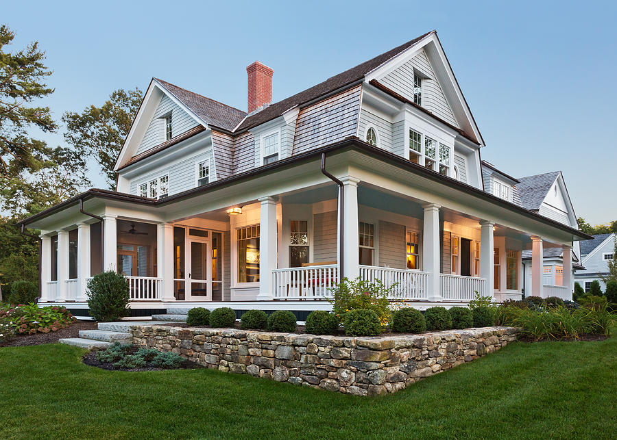 Exterior view of custom home. Photograph by David Papazian