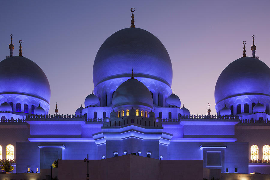 Horizontal Photograph - Exterior View Of Sheikh Zayed Grand by Panoramic Images