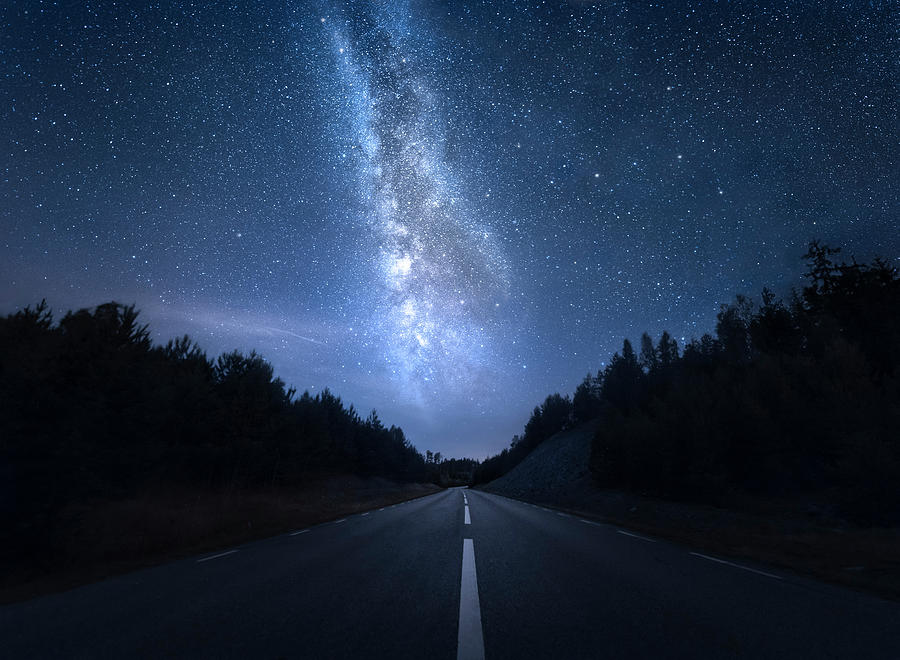 Road Photograph - Extraterrestrial by Christian Lindsten