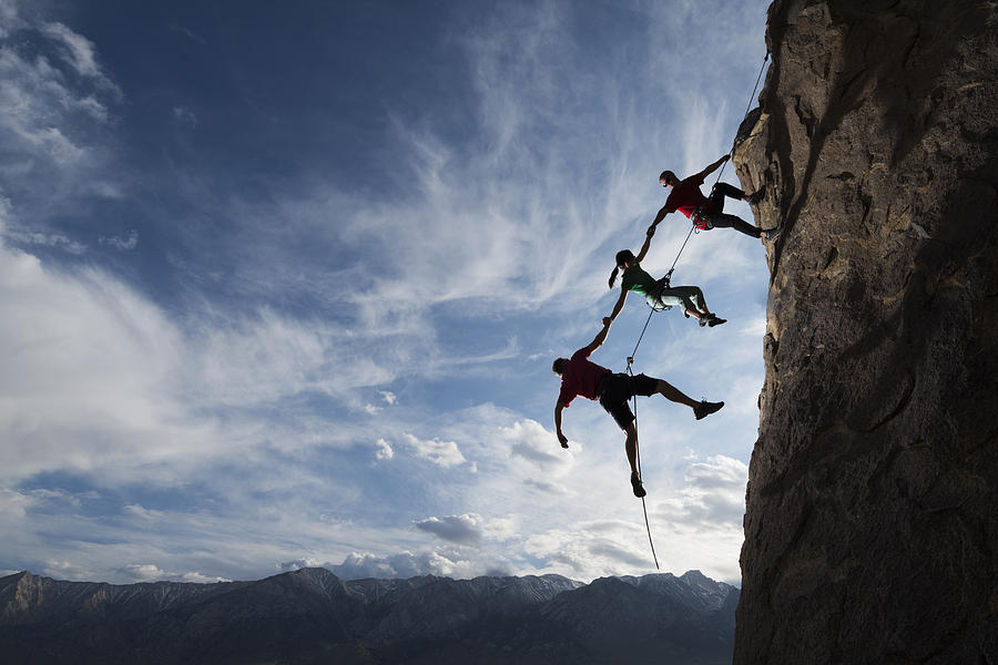 Extreme Rappelling Photograph by Vernonwiley