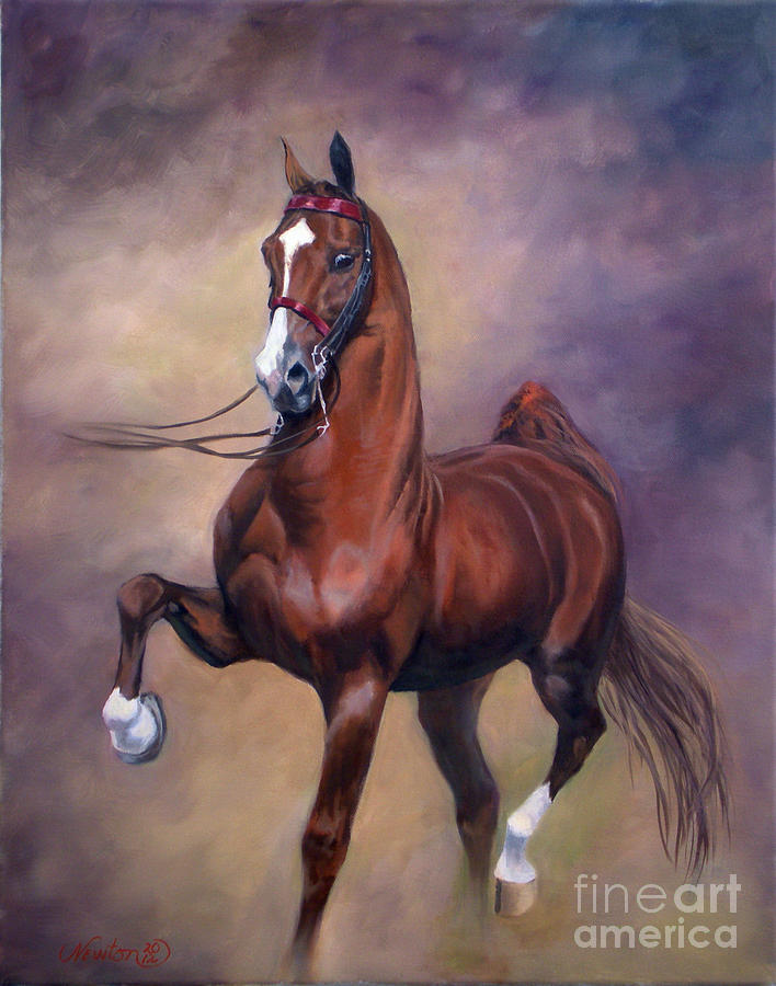 Horse Painting - Extreme Rites by Jeanne Newton Schoborg
