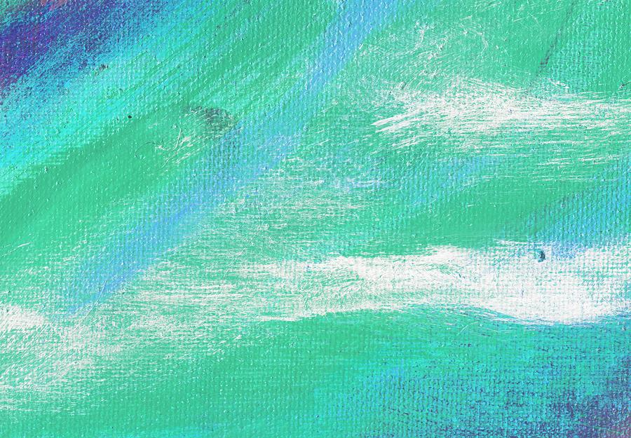 Abstract Painting - Exuberant Aqua Blue Valley by L J Smith