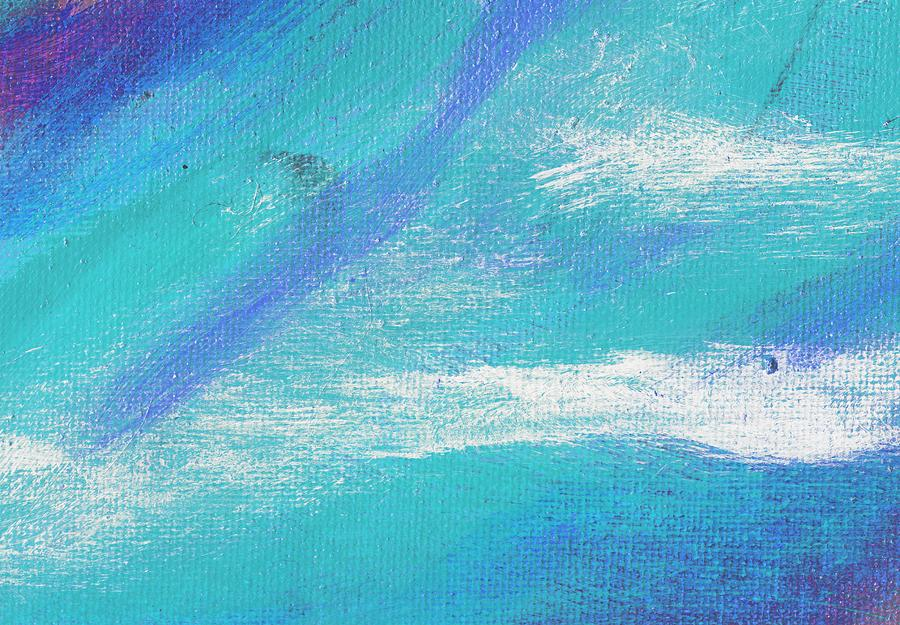 Abstract Painting - Exuberant Blue by L J Smith