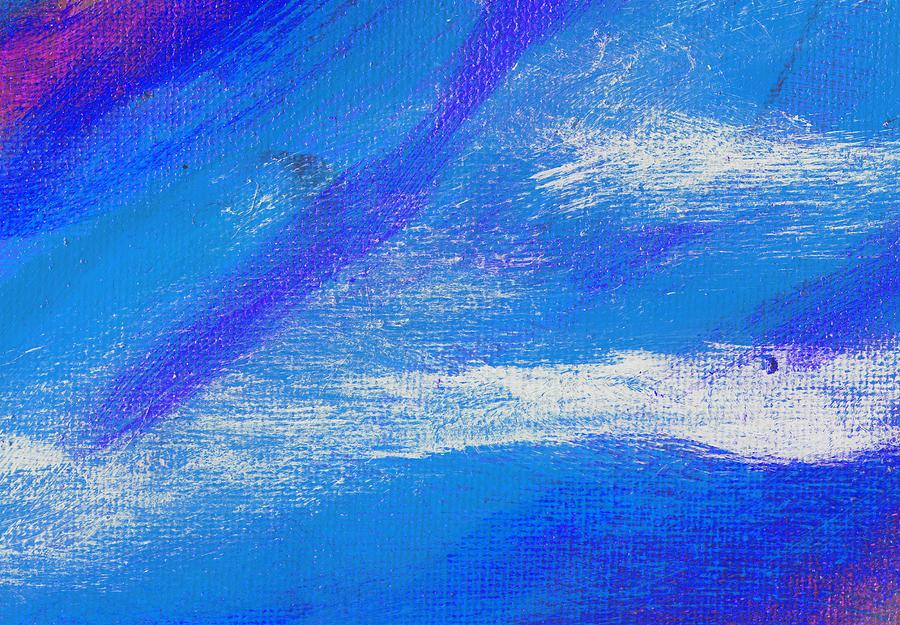 Abstract Painting - Exuberant Midnight Blue by L J Smith