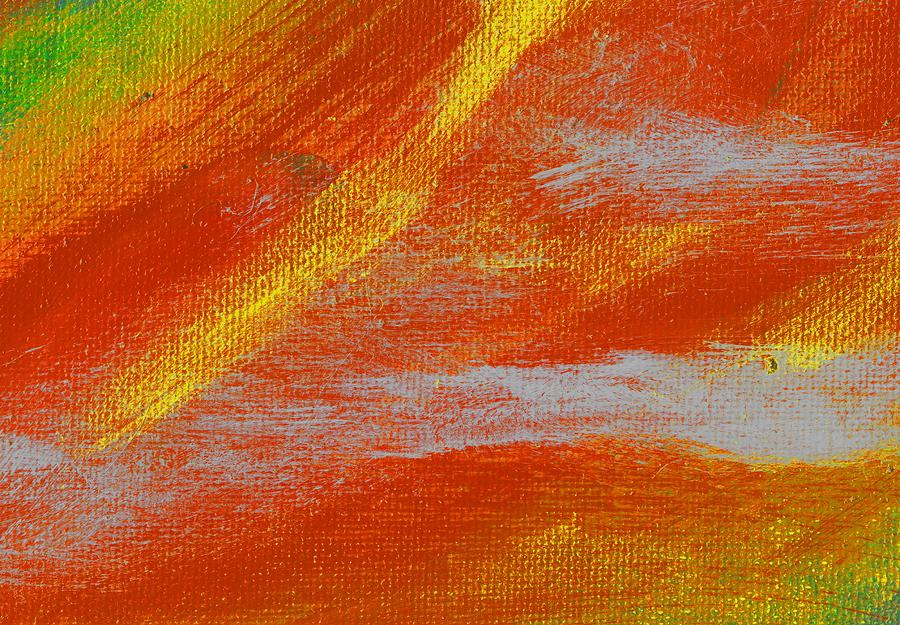 Abstract Painting - Exuberant Yellow Orange by L J Smith
