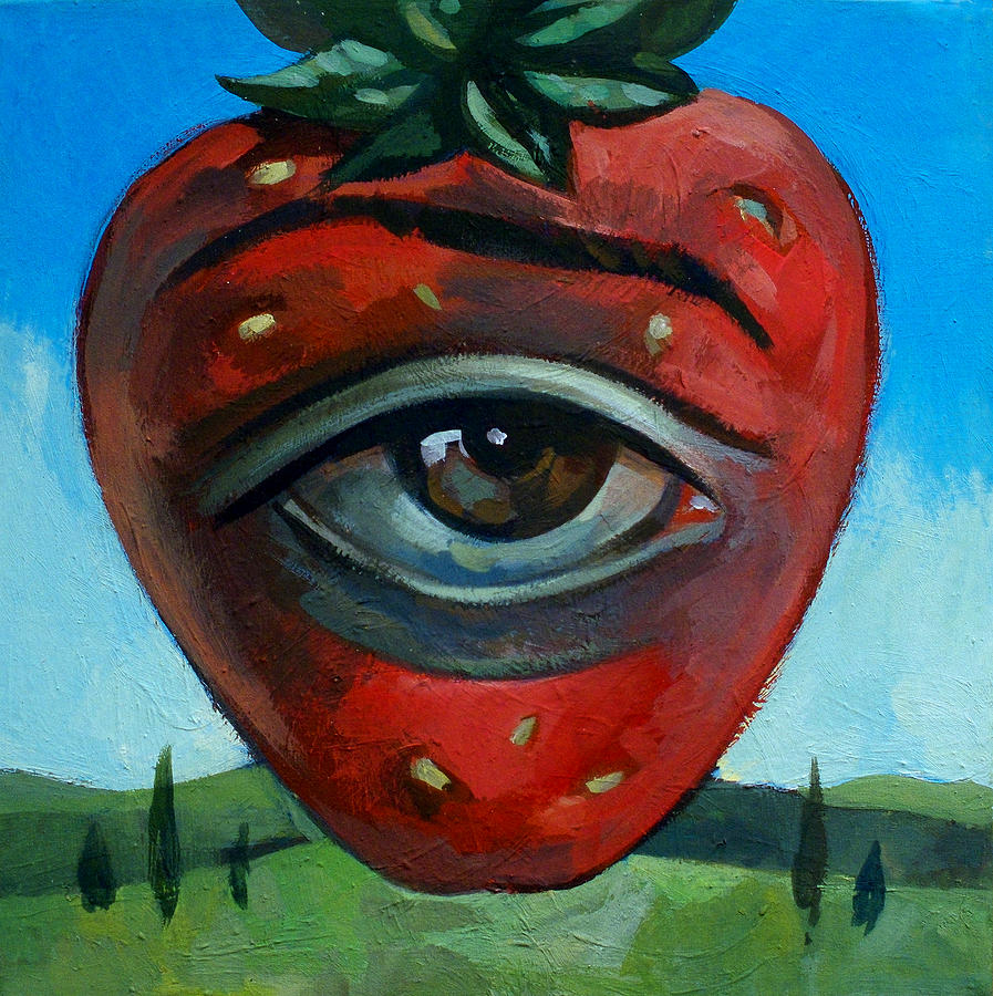 Strawberry Painting - Eye Berry by Filip Mihail