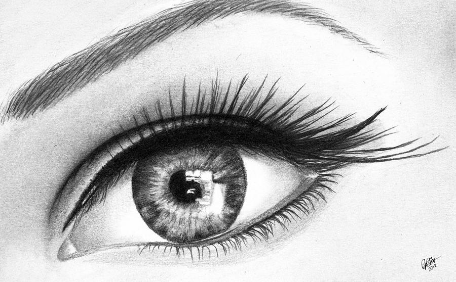 Pencil drawing eye by chris cox
