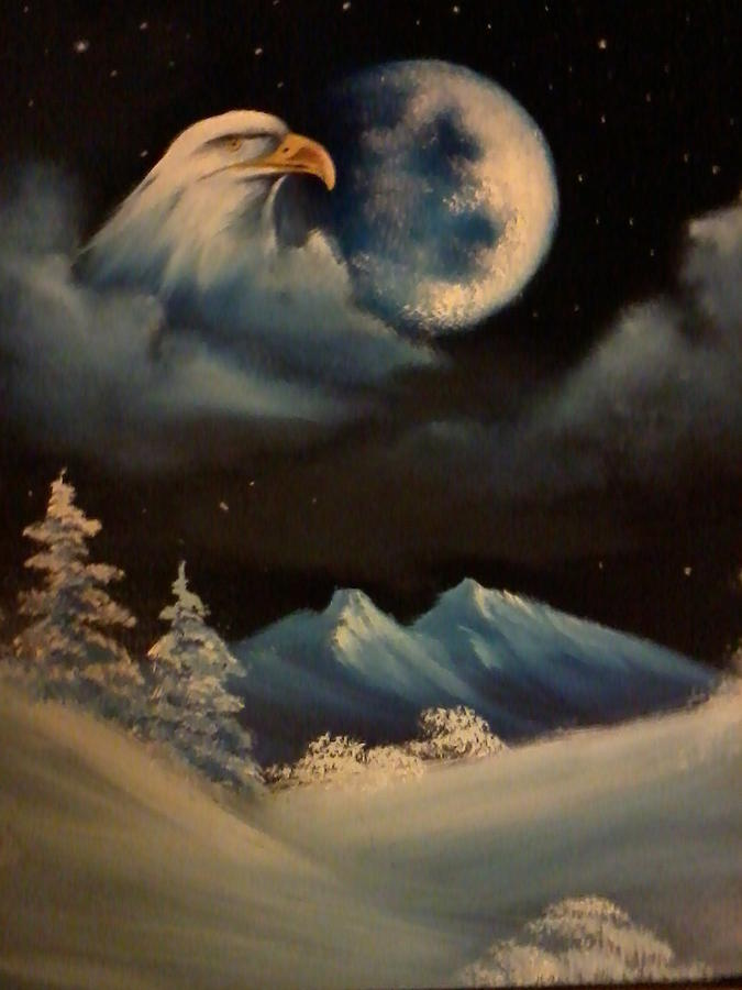 Eagle Painting - Eye In The Sky by Ricky Haug