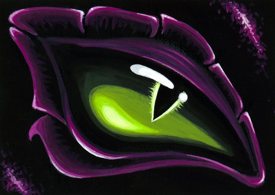 Fantasy Dragon Painting - Eye Of Ena by Elaina  Wagner