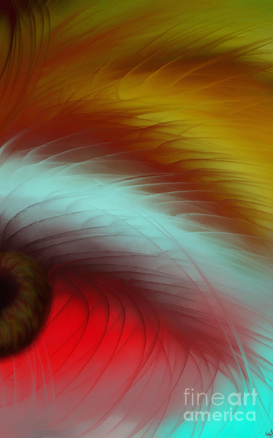 Abstract Painting - Eye Of The Beast by Anita Lewis