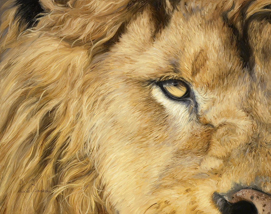 Lion Painting - Eye Of The Lion by Lucie Bilodeau
