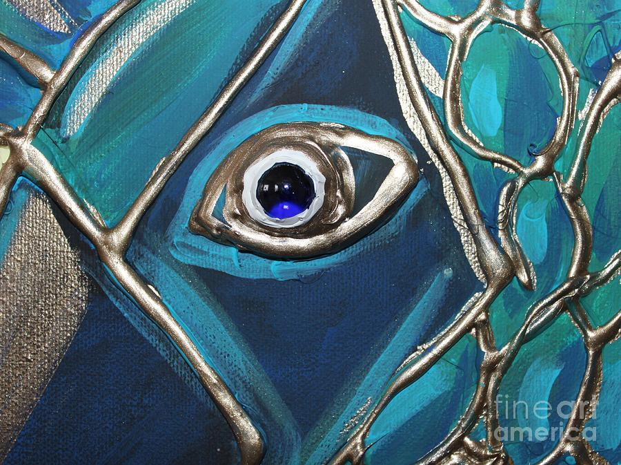 Eye Painting - Eye Of The Peacock by Cynthia Snyder