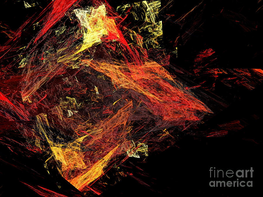 Abstract Digital Art - Eye Of The Storm 3 - Mass Chaos - Abstract - Fractal Art by Andee Design