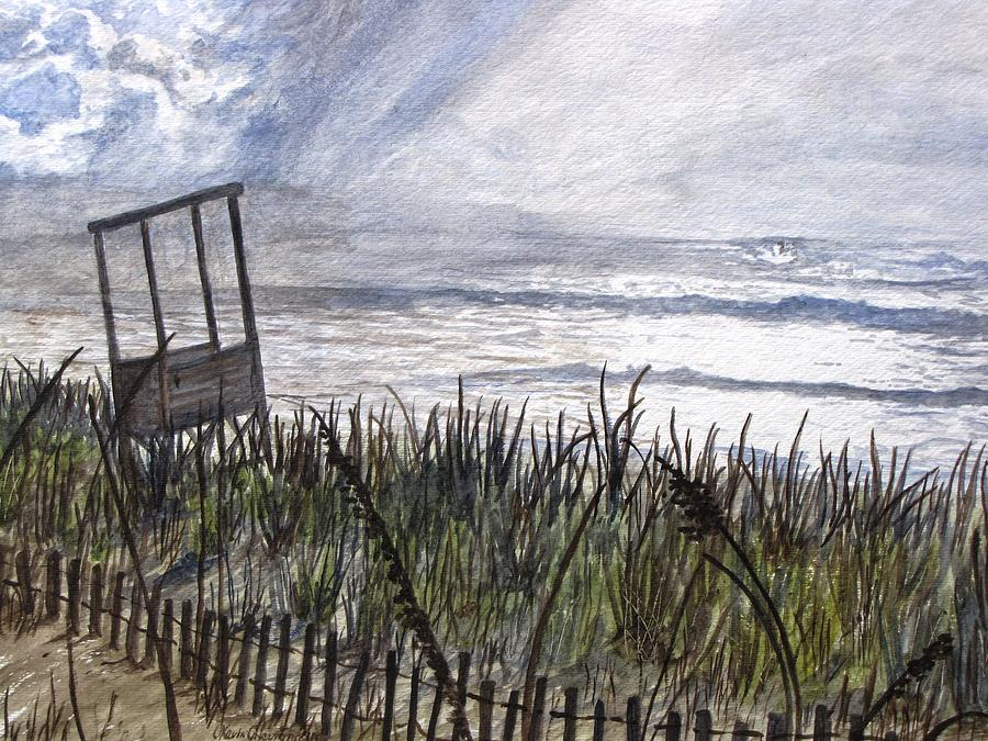 Beach Painting - Eye Of The Storm by Kevin F Heuman