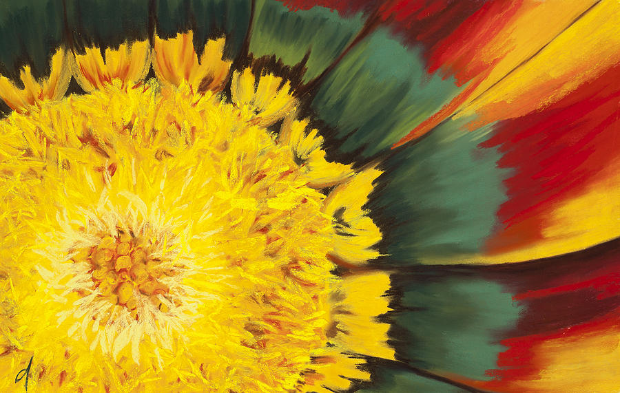 Sunflower Pastel - Eye Of The Sun by Dana Strotheide