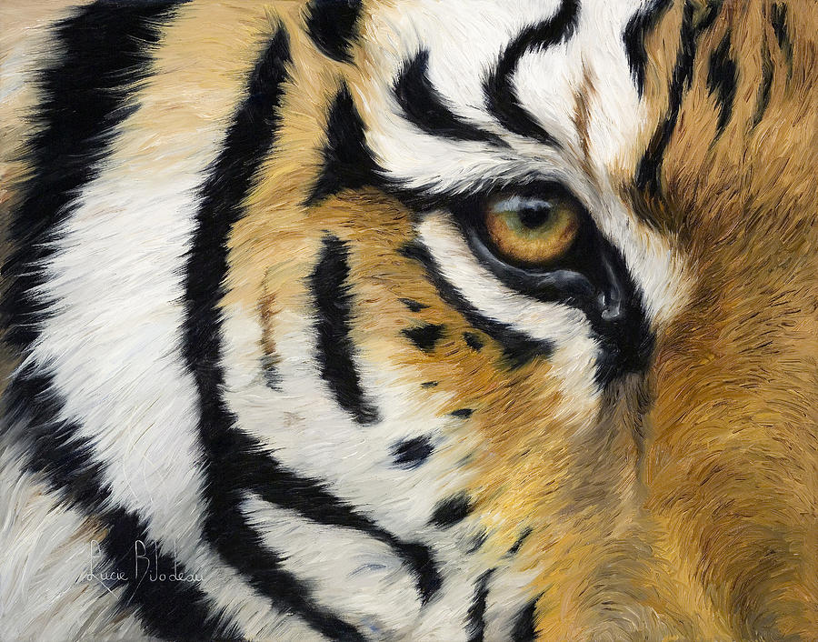 Cat Painting - Eye Of The Tiger by Lucie Bilodeau
