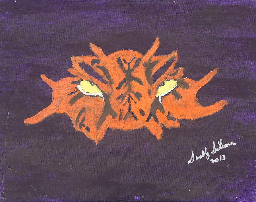 Lsu Painting - Eye Of The Tiger by Swabby Soileau