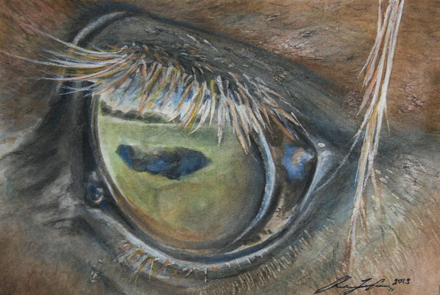 Horse Painting - Eye On Greener Pastures by Rachael Curry