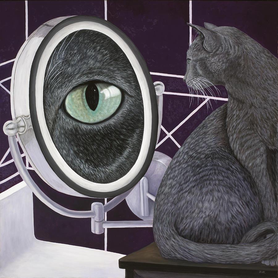 Eye See You Painting by Karen Zuk Rosenblatt