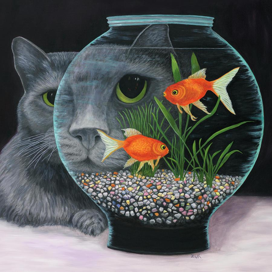 Eye To Eye Sq Painting by Karen Zuk Rosenblatt