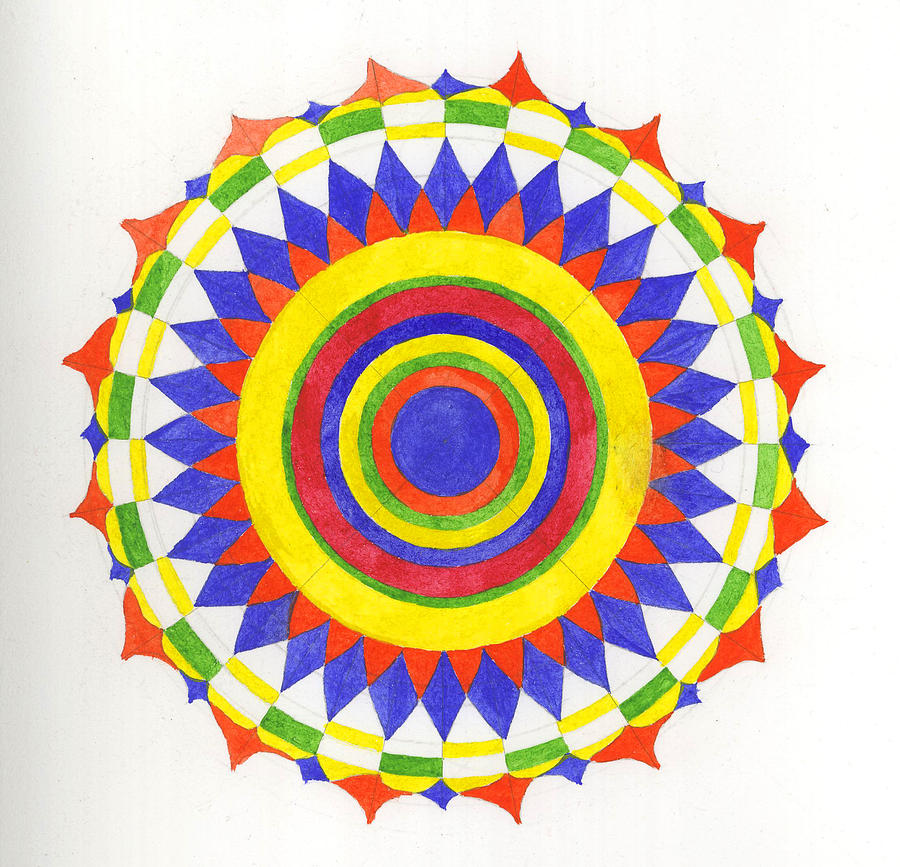 Mandala Painting - Eye World Mandala by Silvia Justo Fernandez