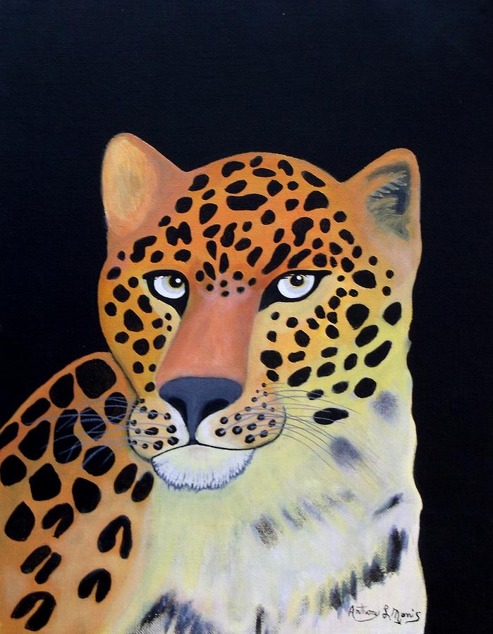 Leopard Painting - Eyes by Anthony Morris