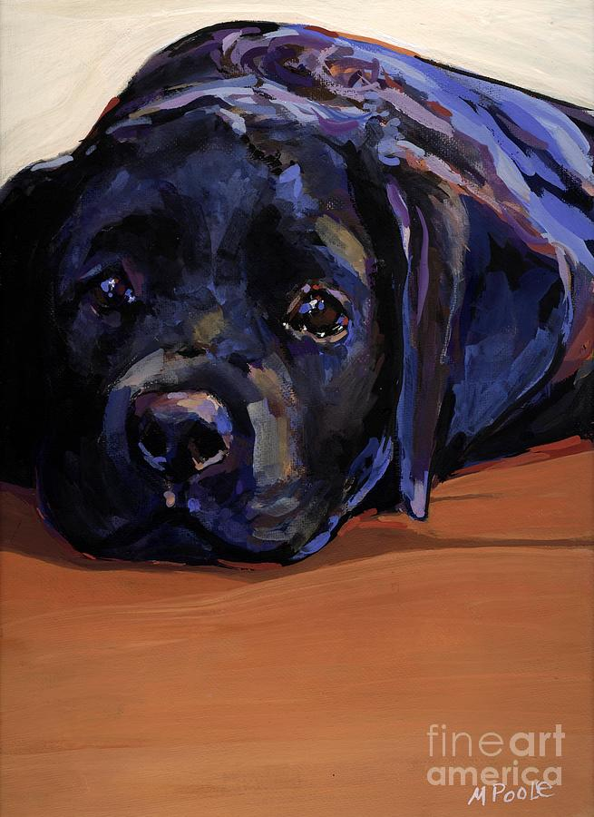 Puppy Painting - Eyes For You by Molly Poole