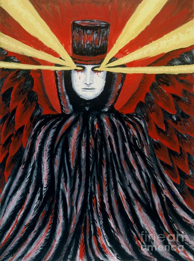 Fallen Angel Painting - Eyes Like A Cat by Coriander  Shea