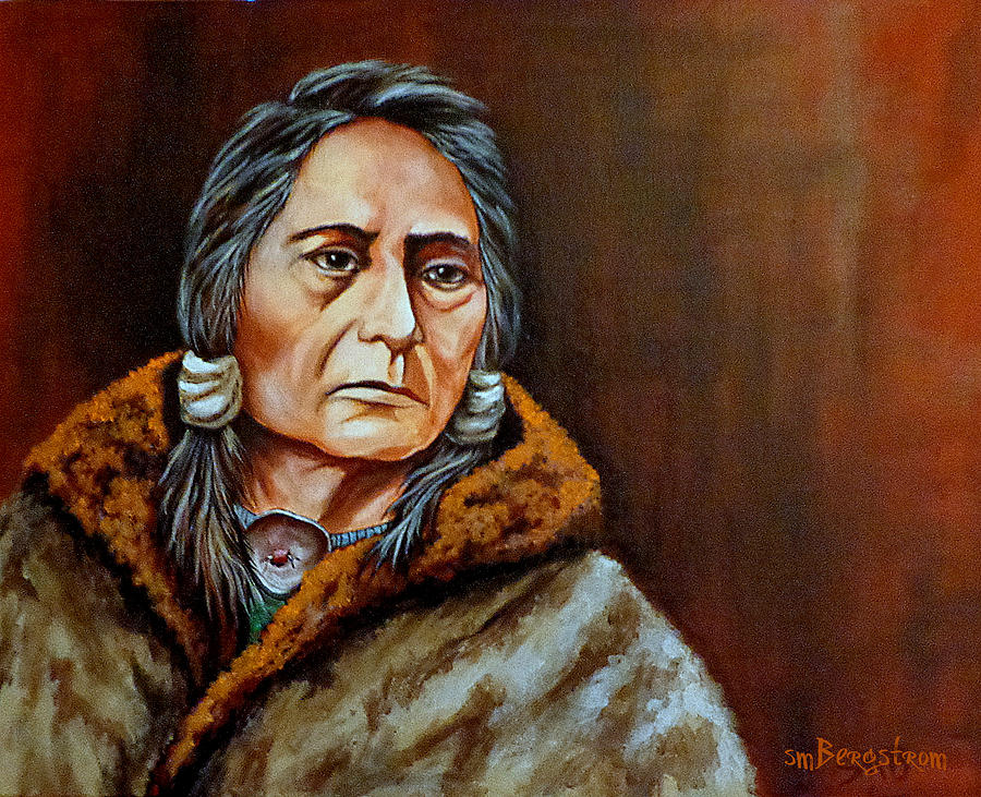 Native American Painting - Eyes Of A Nation by Susan Bergstrom