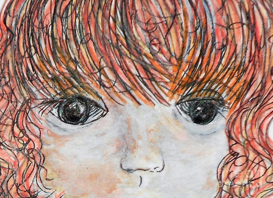 Anime Painting - Eyes Of Innocence by Eloise Schneider