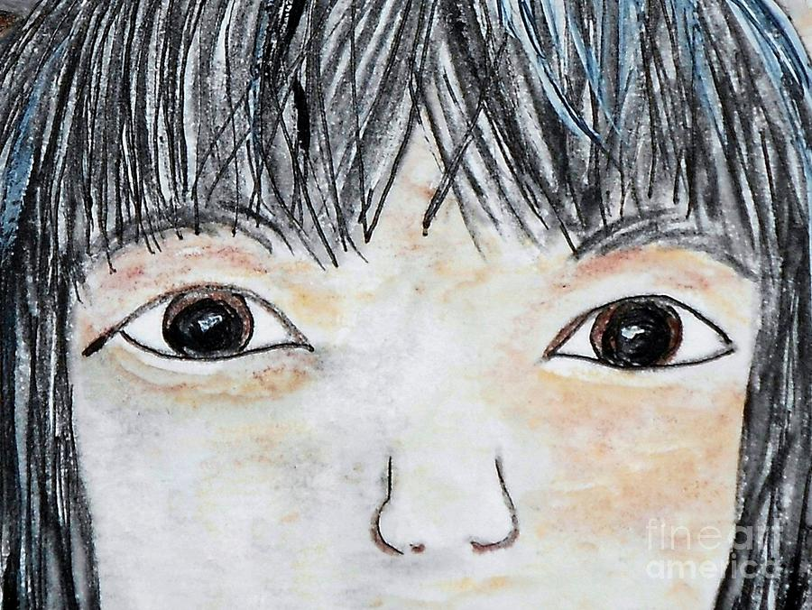 Big Painting - Eyes Of Love by Eloise Schneider