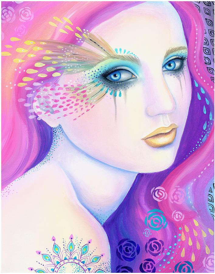 Mermaid Painting - Eyes Of The Sea by B K Lusk