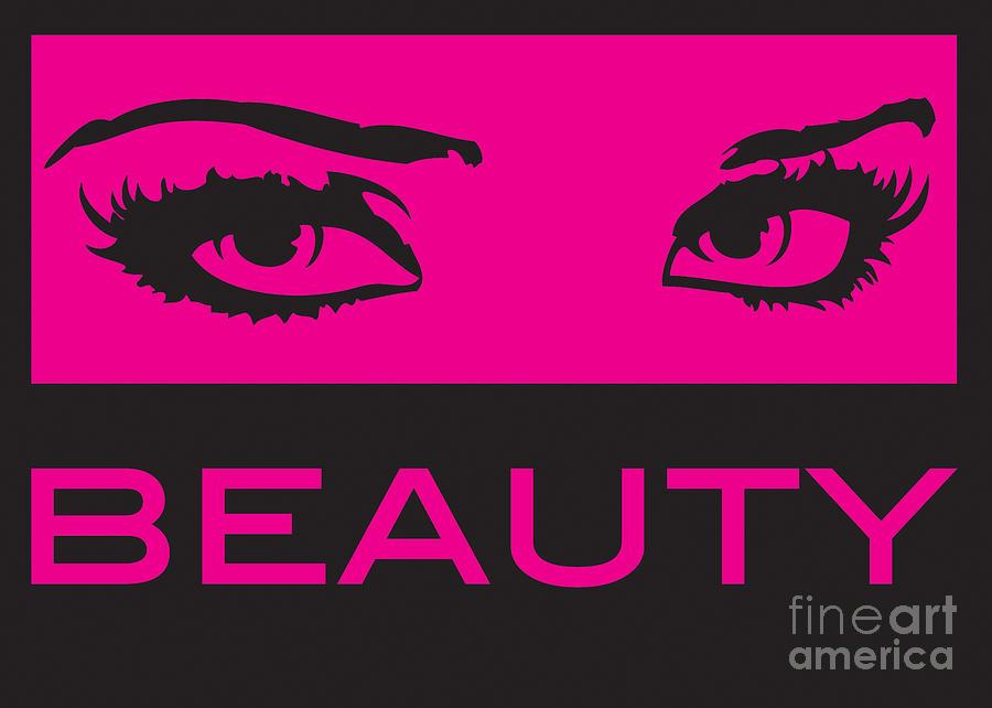 Abstract Digital Art - Eyes On Beauty by Suzi Nelson