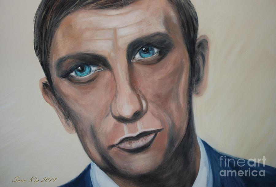 Man Painting - Eyes Speak by Oksana Semenchenko