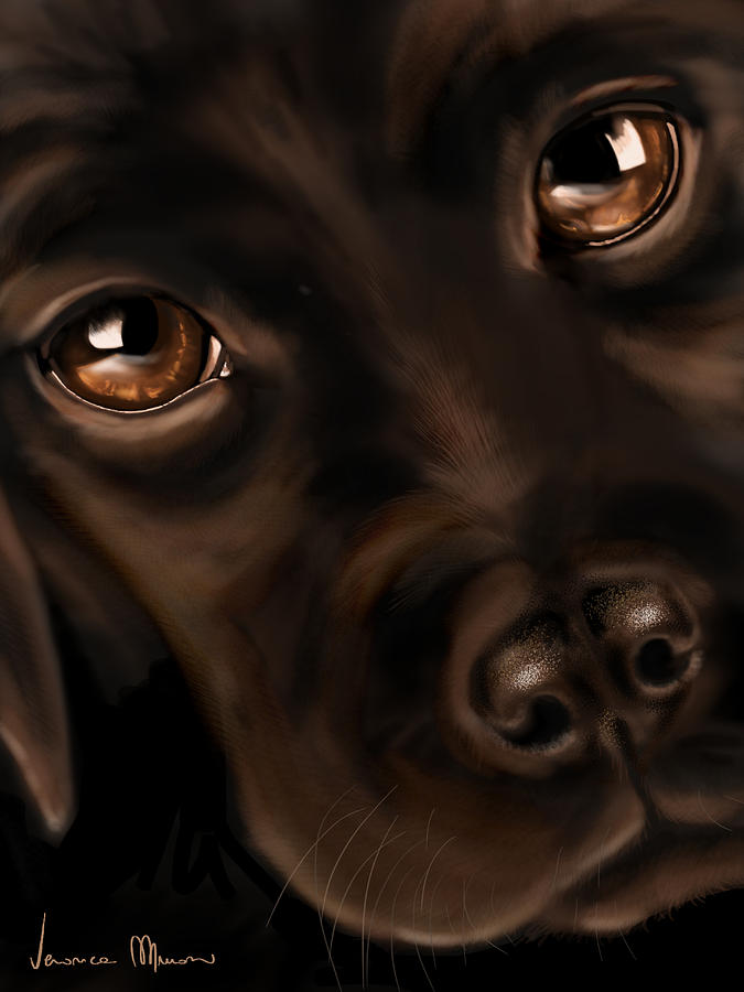 Digital Painting - Eyes by Veronica Minozzi