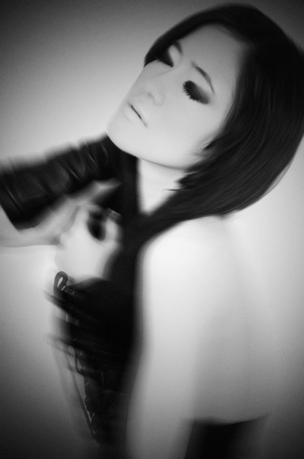 Black And White Photograph - Eyes Wide Shut by Mayumi Yoshimaru