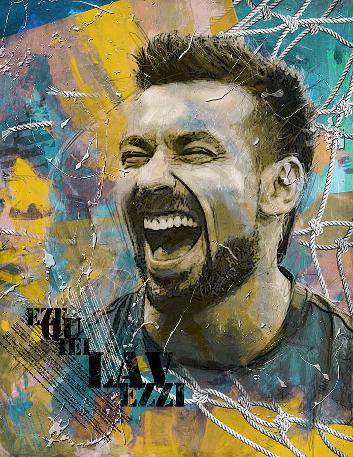 Lavezzi Painting - Ezequiel Lavezzi by Corporate Art Task Force