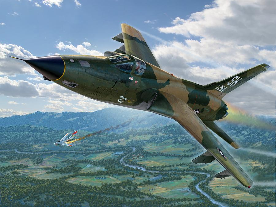 F-105 Digital Art - F-105d Thunderchief Mary Kay by Stu Shepherd