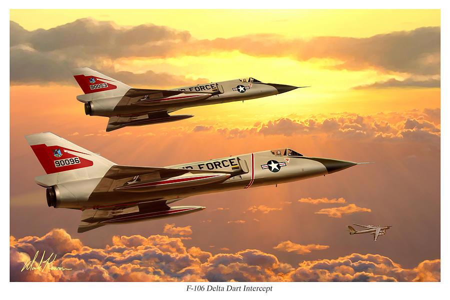 Aviation Painting - F-106 Delta Dart Intercept by Mark Karvon