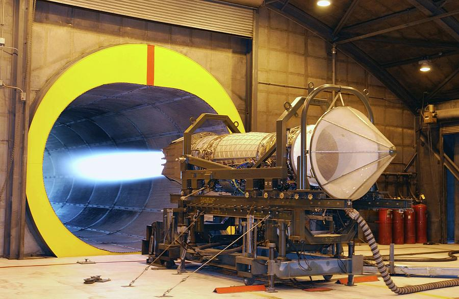 Machine Photograph - F-119 Engine During Testing by Us Air Force/science Photo Library