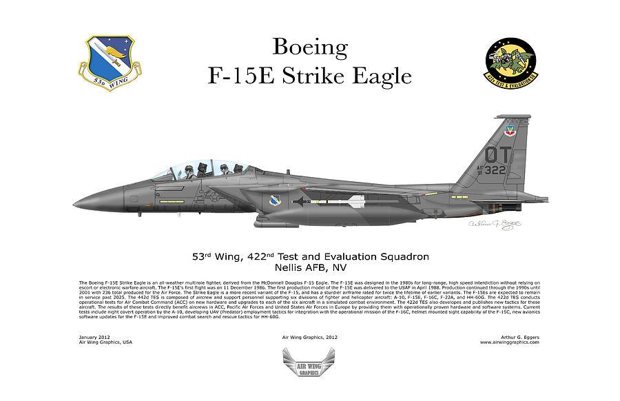 Boeing Digital Art - F-15e Strike Eagle 442d Tes by Arthur Eggers