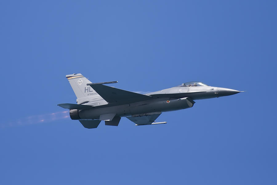 Aeroplane Photograph - F-16 Fighting Falcon by Adam Romanowicz