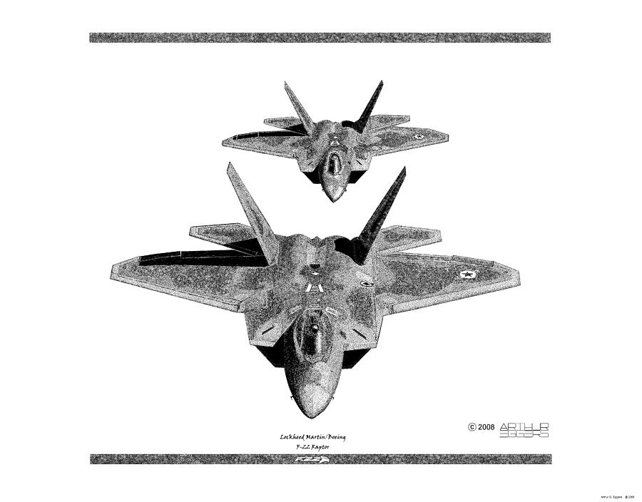 F-22 Raptor Drawing by...F 22 Drawing