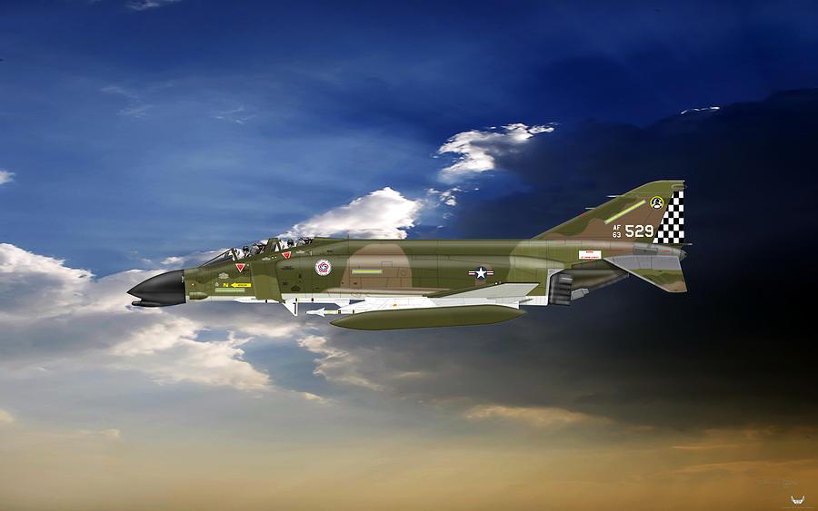 Mcdonnell Douglas Digital Art - F-4c Phantom by Arthur Eggers
